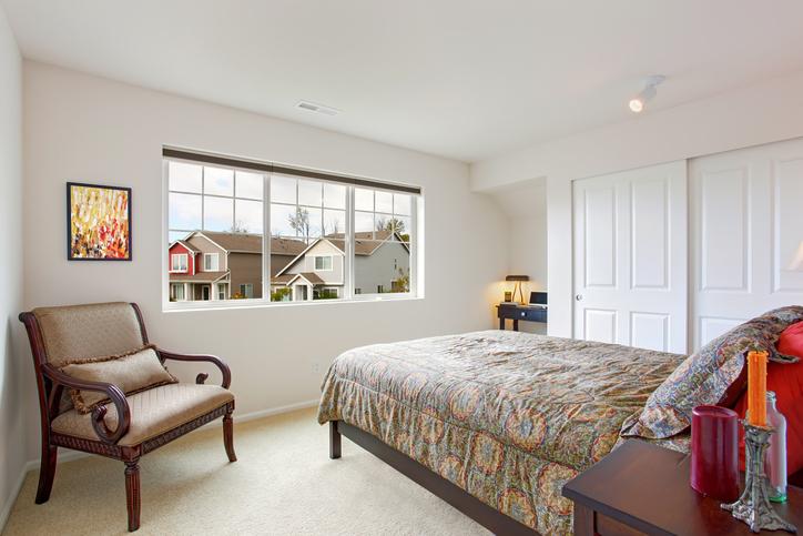 Bright organized guest room design Denver