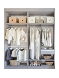 custom reach-in closet storage