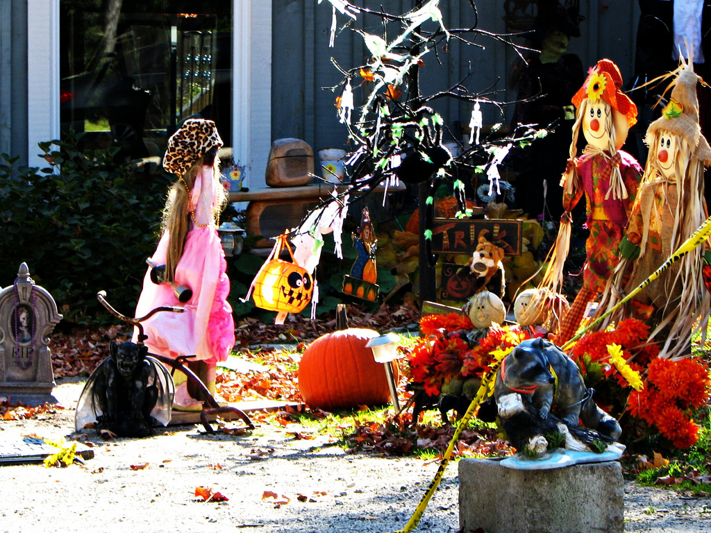 Halloween and scarecrow outdoor decorations