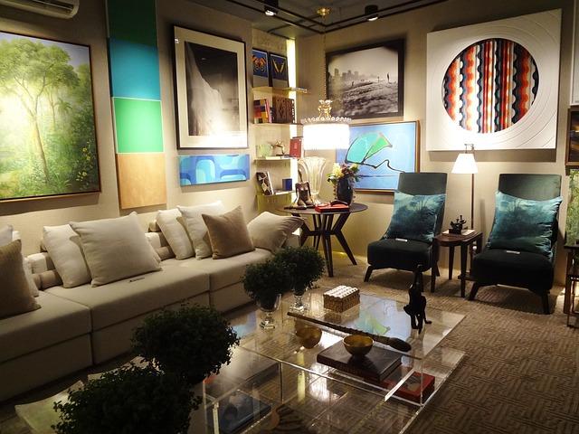 Living room furniture maximal design