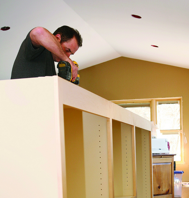 Custom home storage installation