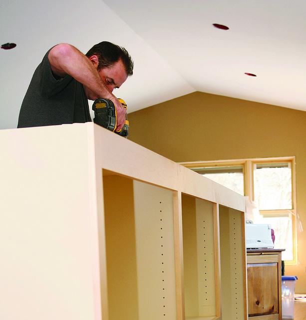 Custom home storage installation