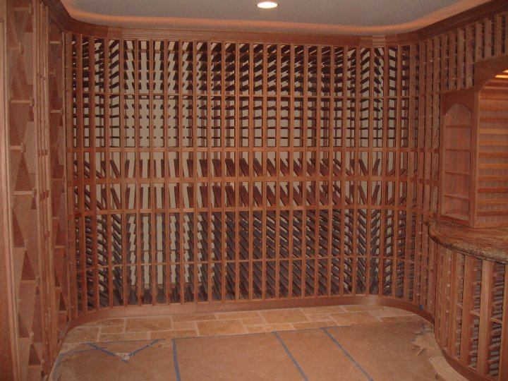 Large Denver wine cellar with custom shelves