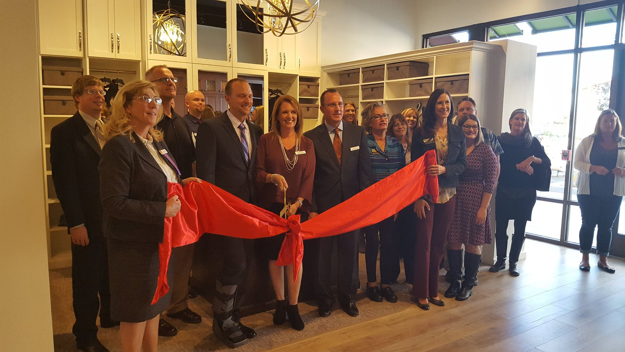 Closet & Storage Concepts Denver team ribbon cutting