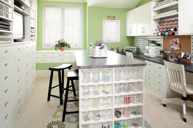 Custom craft room organization