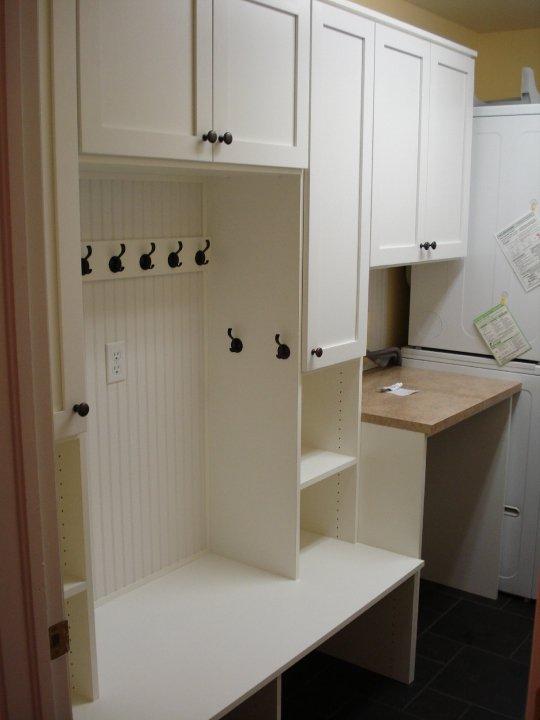 Custom laundry room mudroom storage Denver
