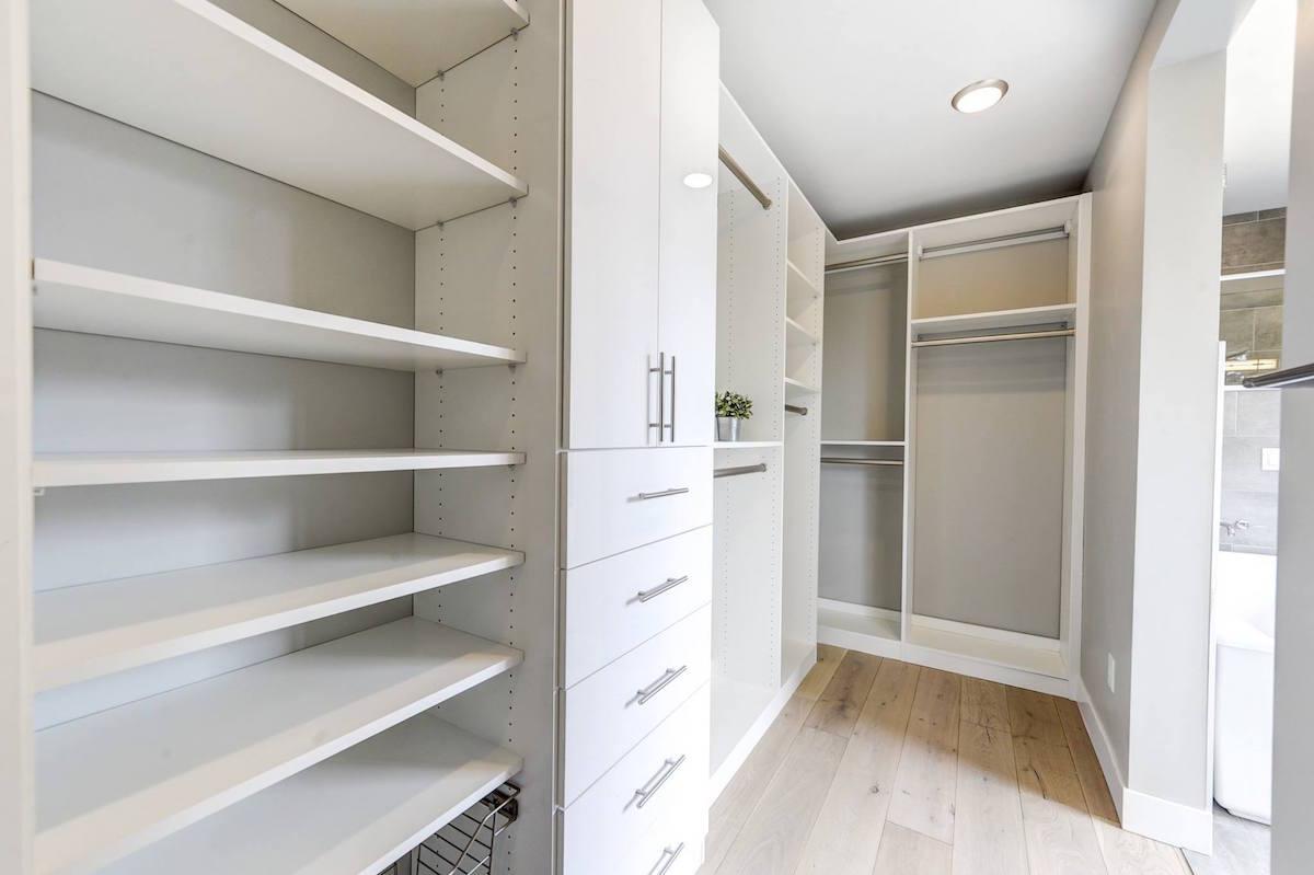 Modern custom closet design Colorado