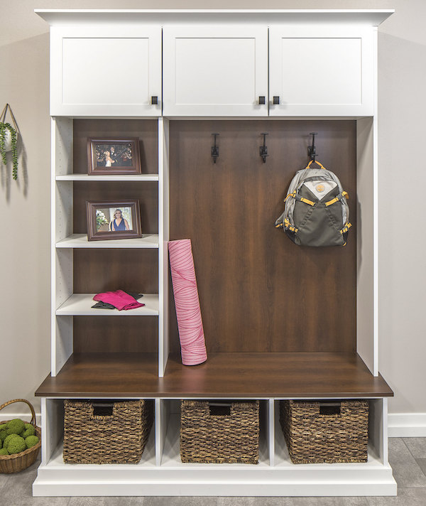 custom entryway closet in colorado