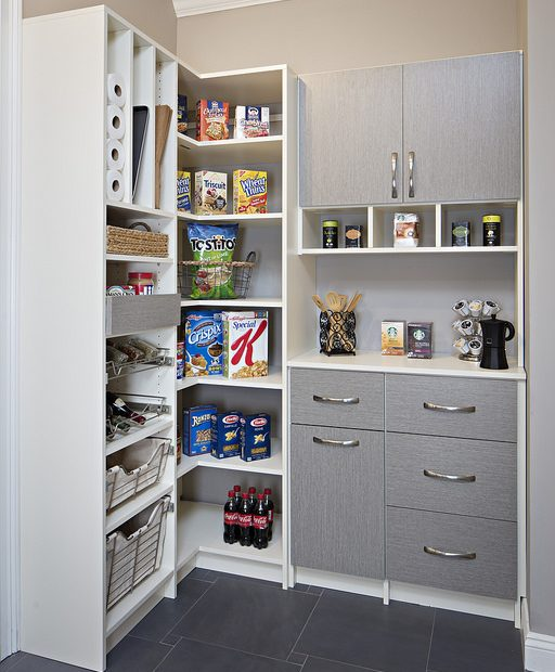 Well-organized butler's pantry