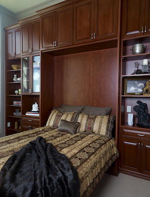 Murphy Bed storage system.