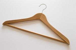 Plain wood hanger