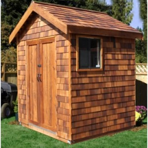 Wood shed with small window