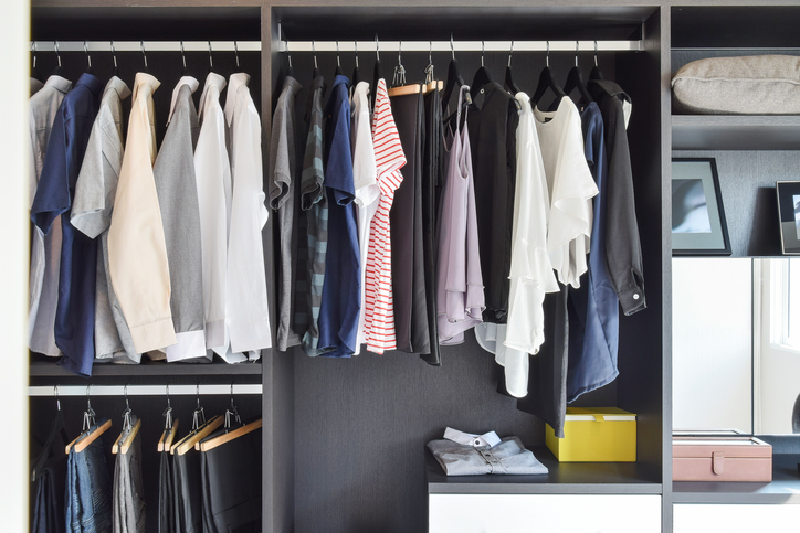 dark and dramatic closet and storage concepts