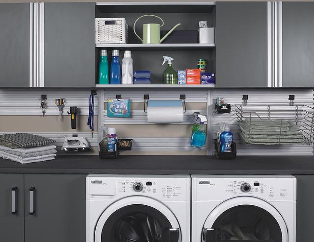 Small Space Laundry Organization