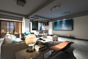 Living Room Custom Entertainment Center Nevada