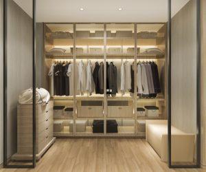 New closet with bright lighting Henderson Nevada