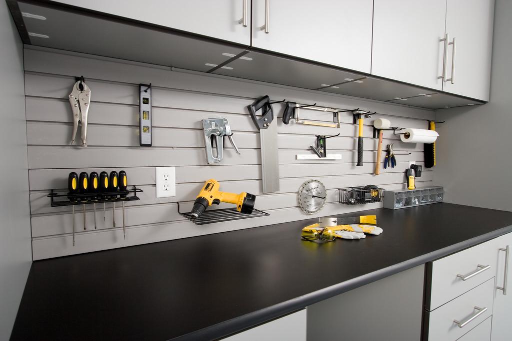 Custom garage tool storage and workbenches Minneapolis