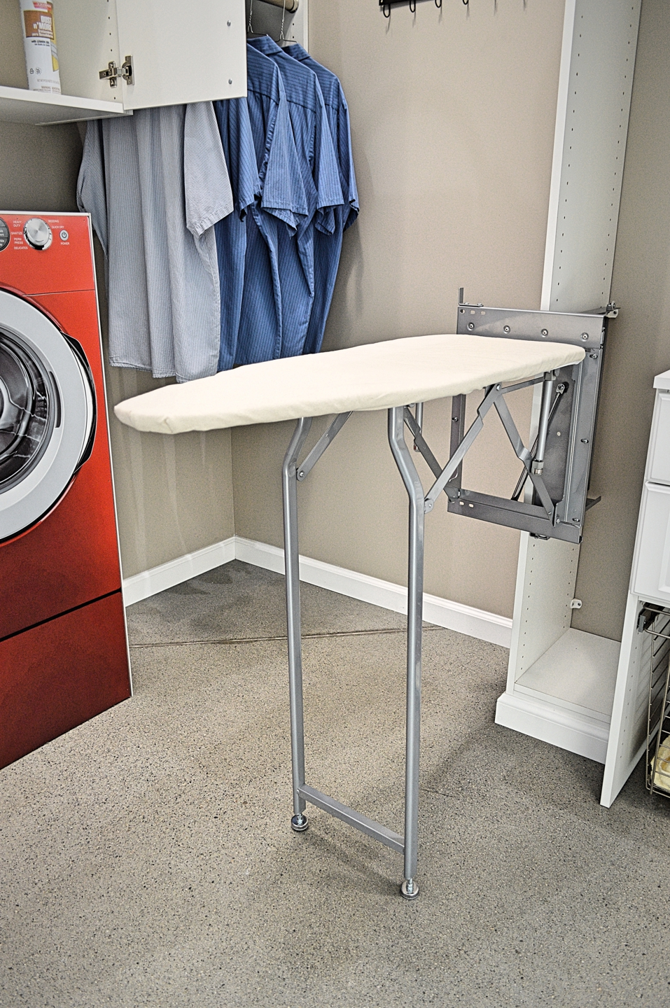 how to make a hide away ironing board
