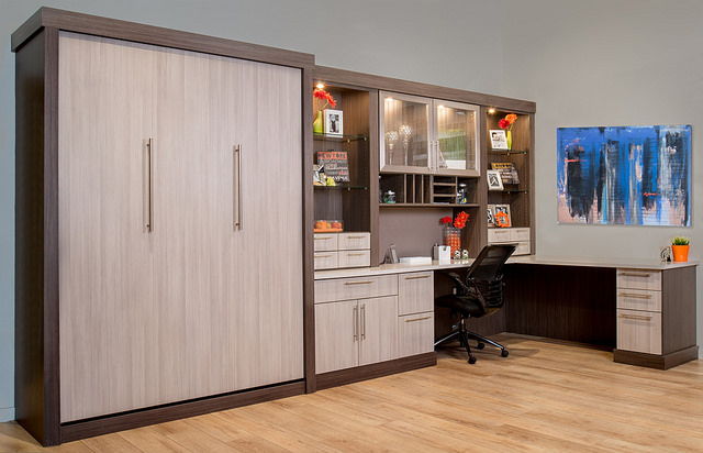 custom home office and murphy bed - north jersey