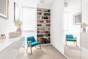Modern closet glam room