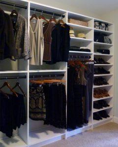 Closet shelving built in - white