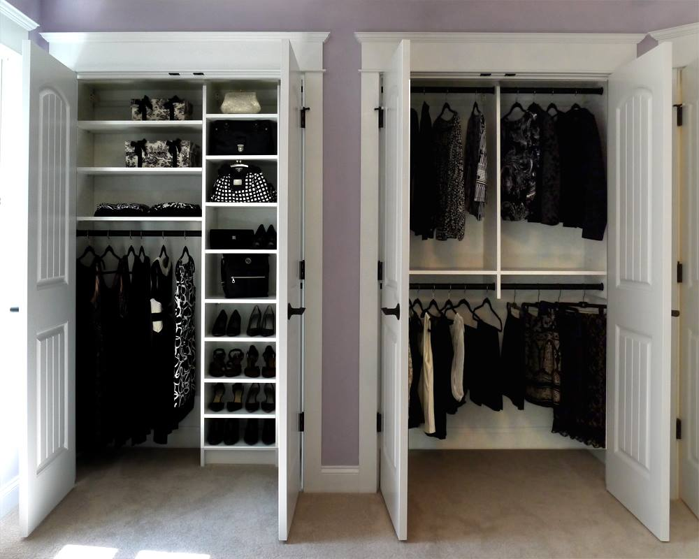 Custom closet double reach-in