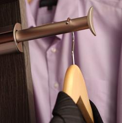 Closet hanger detail - Philadelphia custom closets