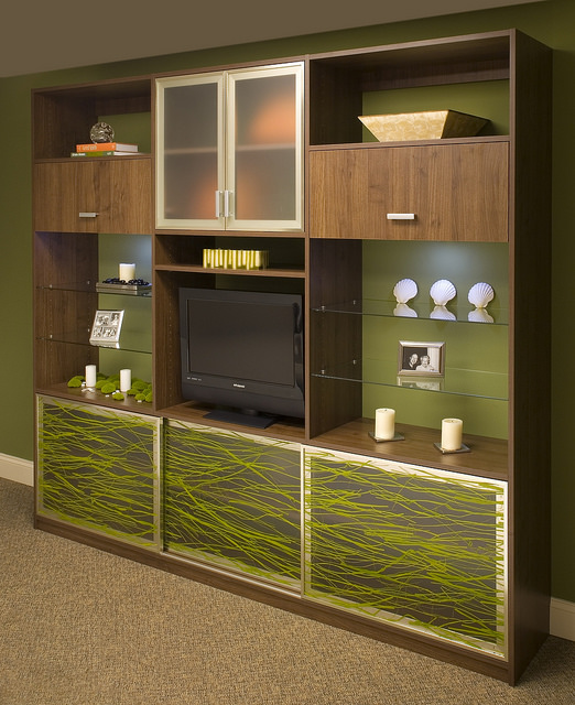 Custom Entertainment Centers From Closet & Storage