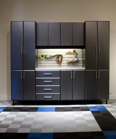 Custom carbon fiber garage cabinets