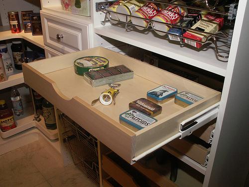 Drawer in custom pantry unit