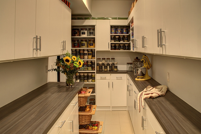 Contemporary kitchen pantry storage in Cherry Hill