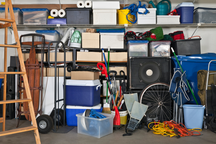 Garage full of clutter and stuff