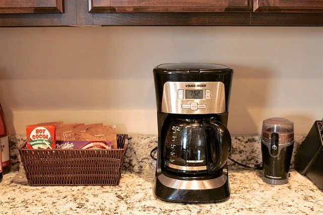 Clean coffee station in a home