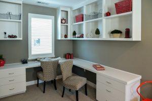 Modern home office storage