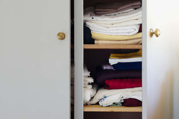 Small Linen Closet With Sheets