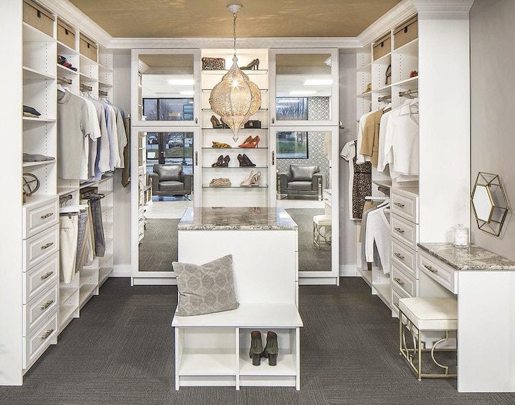 modern glam boutique custom closet Philadelphia