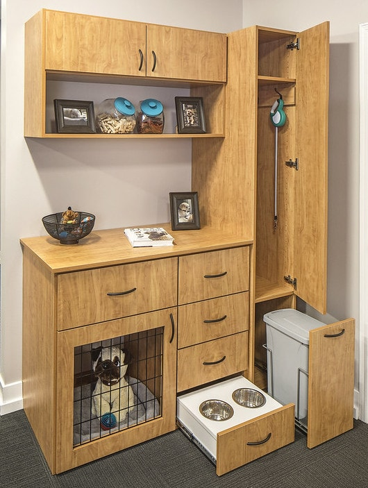 built-in wall units pet and utility room Philadelphia