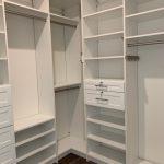 Philadelphia closet system with lockable drawers