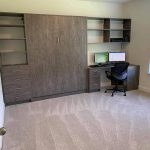 modern murphy bed and desk in a Philadelphia home office