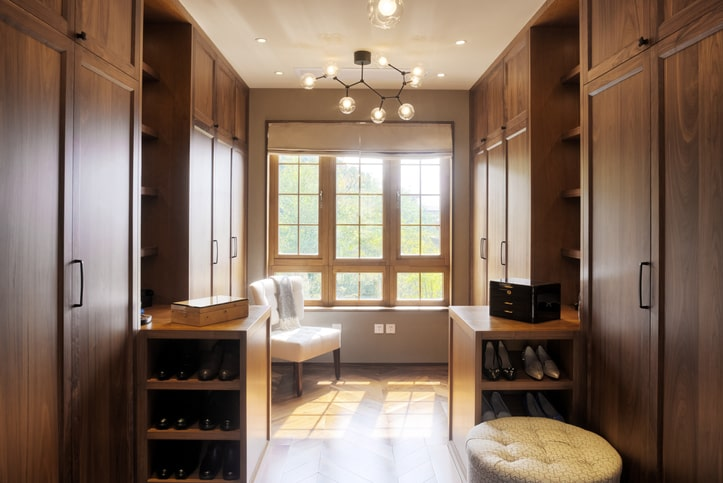 luxurious custom closet walk-in