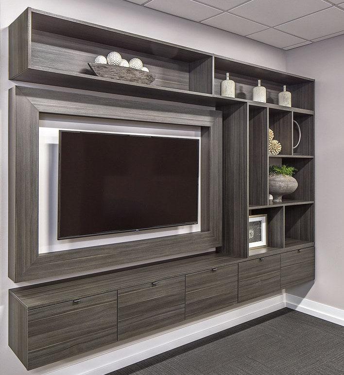 custom grey entertainment wall system Philadelphia