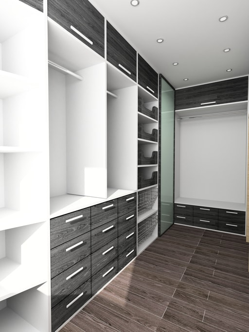 modern custom closet storage and organization system