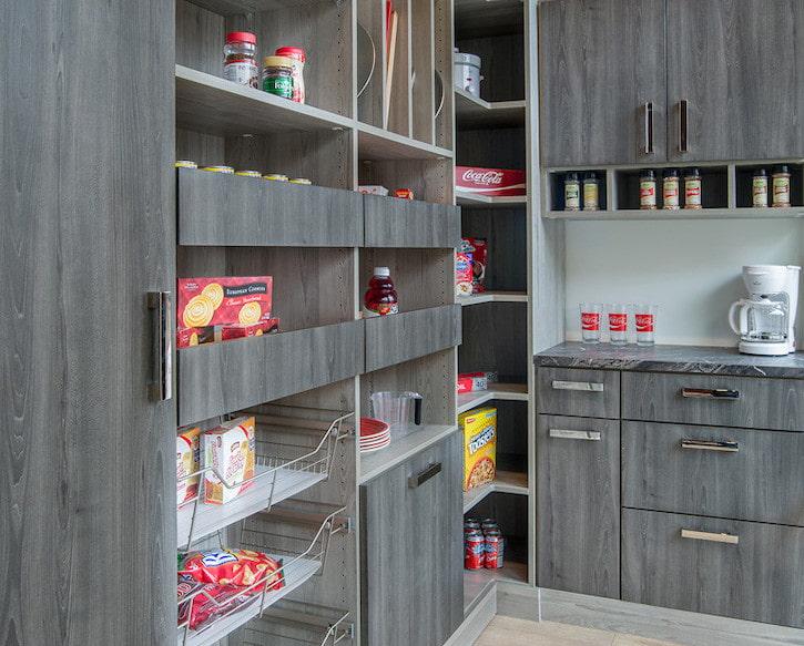 custom grey pantry storage shelving Philadelphia