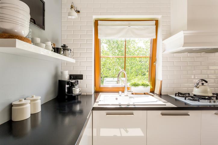 Tiny contemporary kitchen