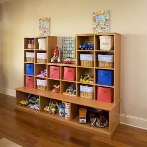 Custom organizer shelf and bench