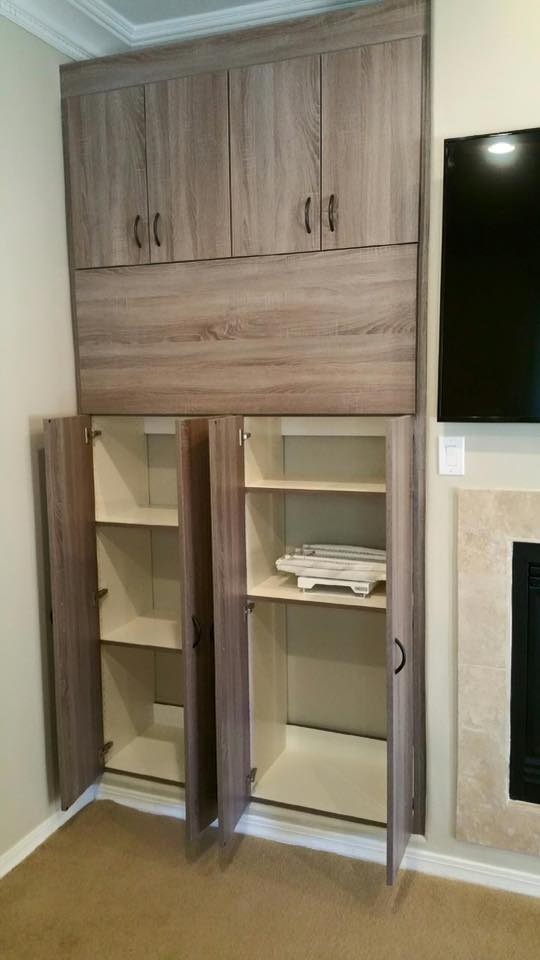 Rustic custom cabinetry for a Phoenix, AZ home.