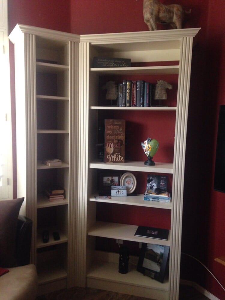 Custom built bookcase in Phoenix, AZ