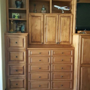 Custom wood stained hutch - Closet & Storage Concepts Scottsdale