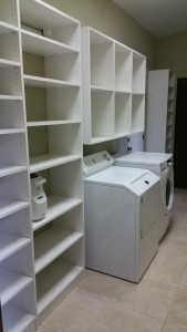 Custom laundry storage in Scottsdale
