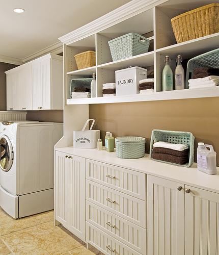 Custom laundry room storage